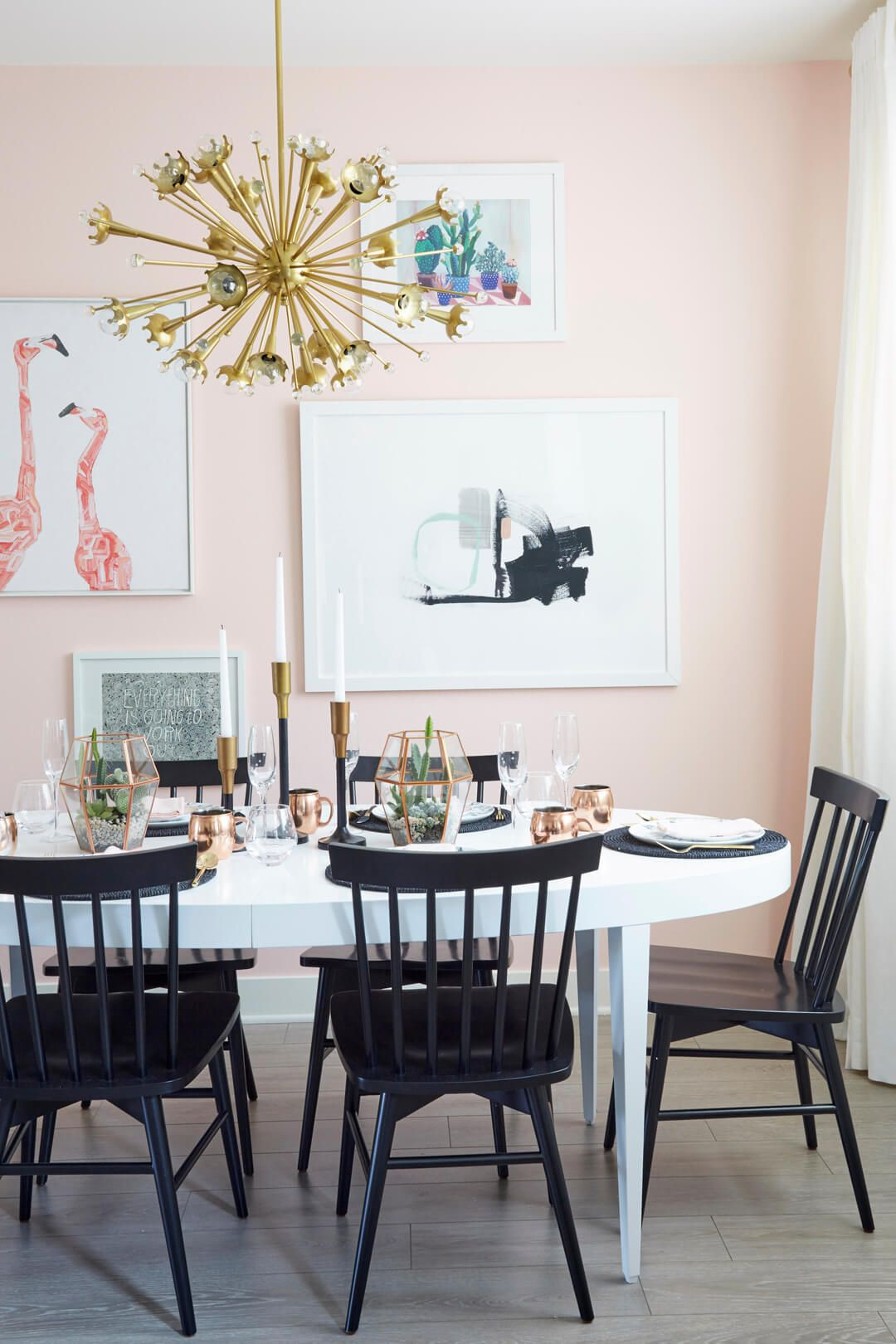 Charmant Courtesy Of Zeke Ruelas For Emily Henderson Designs. Pale Pink. Hereu0027s How  To Paint Your Dining Room ...