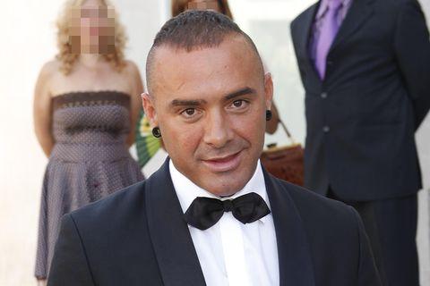 Dinio el día de su boda con Irene López en 2011