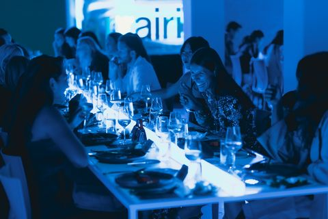 dinner guests dine at moma ps1