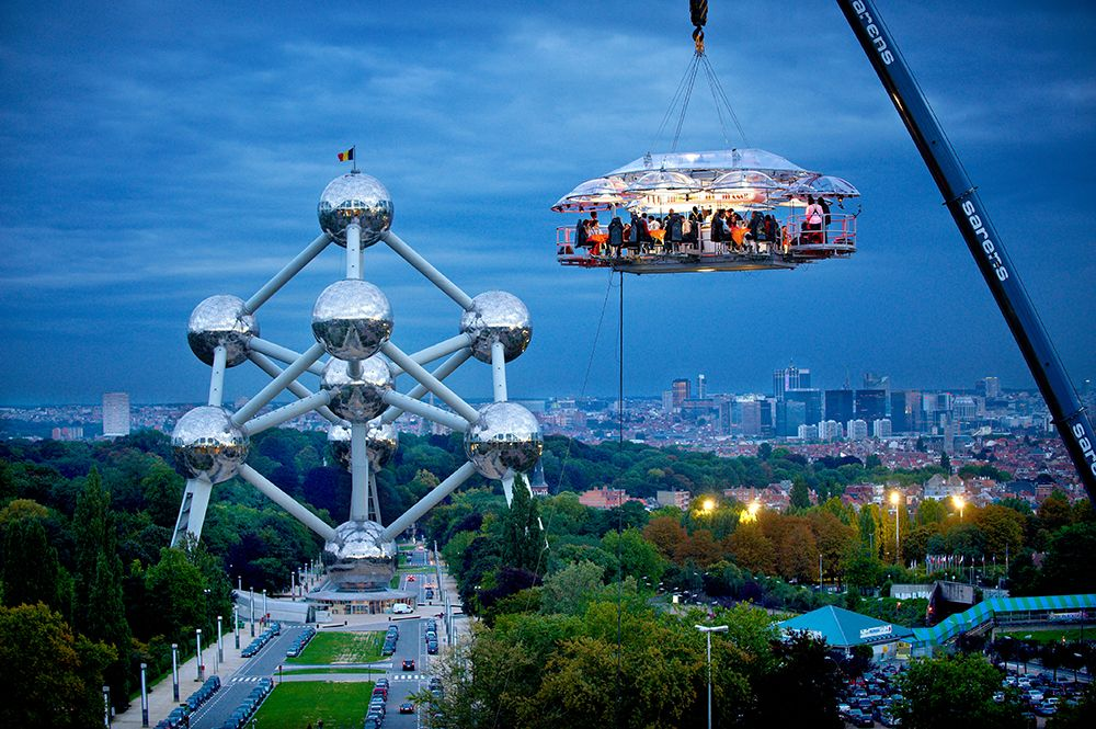 Dinner In The Sky Serves Guests Gourmet Food While Suspended 150 Feet In The Air