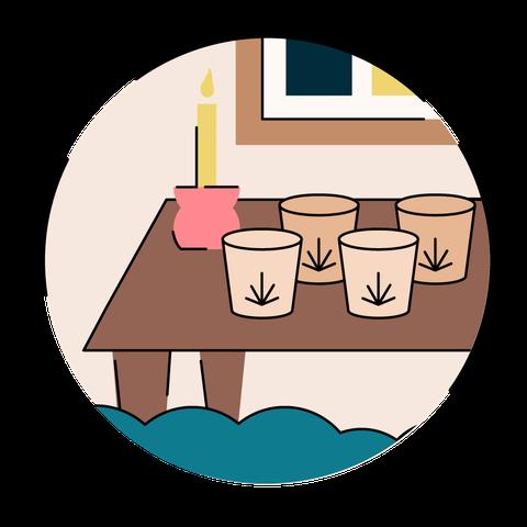 Cartoon, Clip art, Illustration, Table, Cup, Tableware, Side dish, Art, Graphics, Drinkware,
