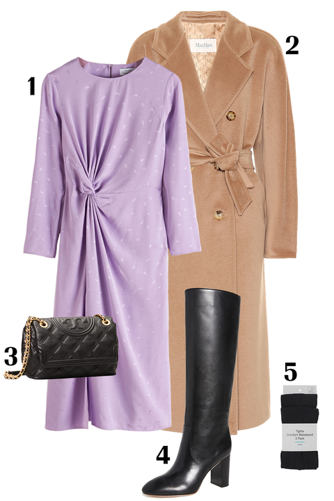 Clothing, Trench coat, Coat, Overcoat, Purple, Outerwear, Footwear, Violet, Pink, Fashion,