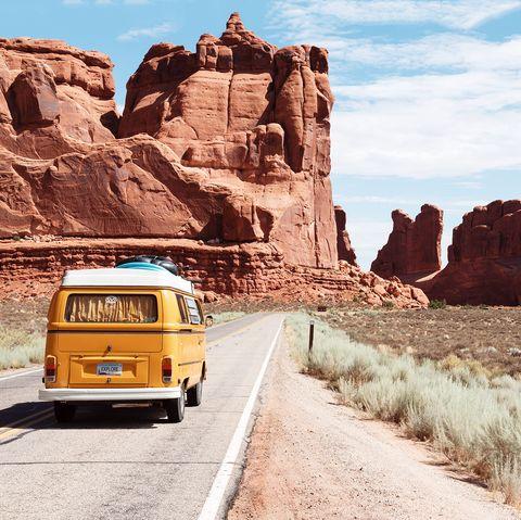 Badlands, Mode of transport, Vehicle, Transport, Mountainous landforms, Yellow, Rock, Wadi, Canyon, Formation,