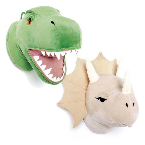 decoración infantil dinosaurios de peluche de pared