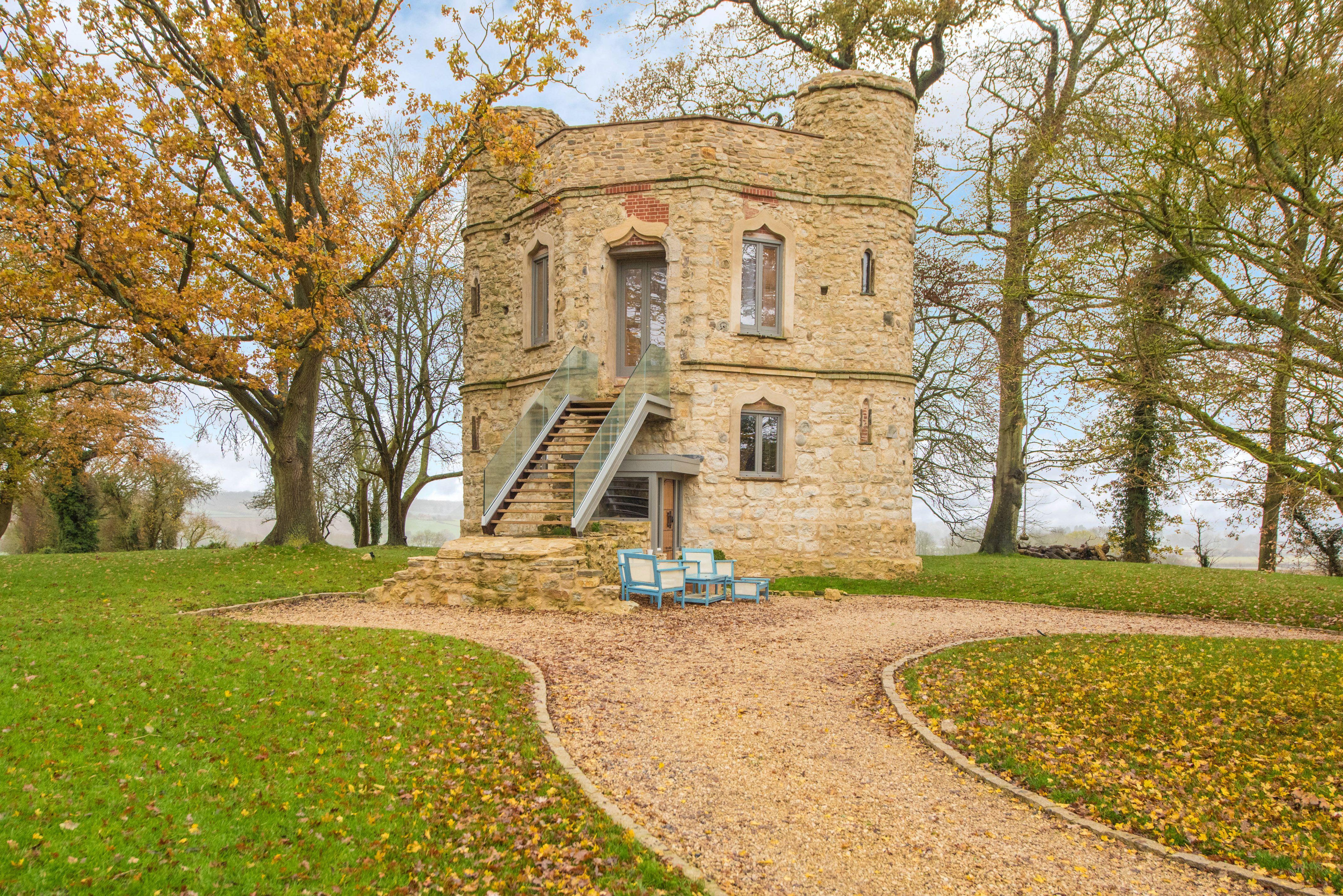 Miniature two-bedroom castle for sale in Buckinghamshire