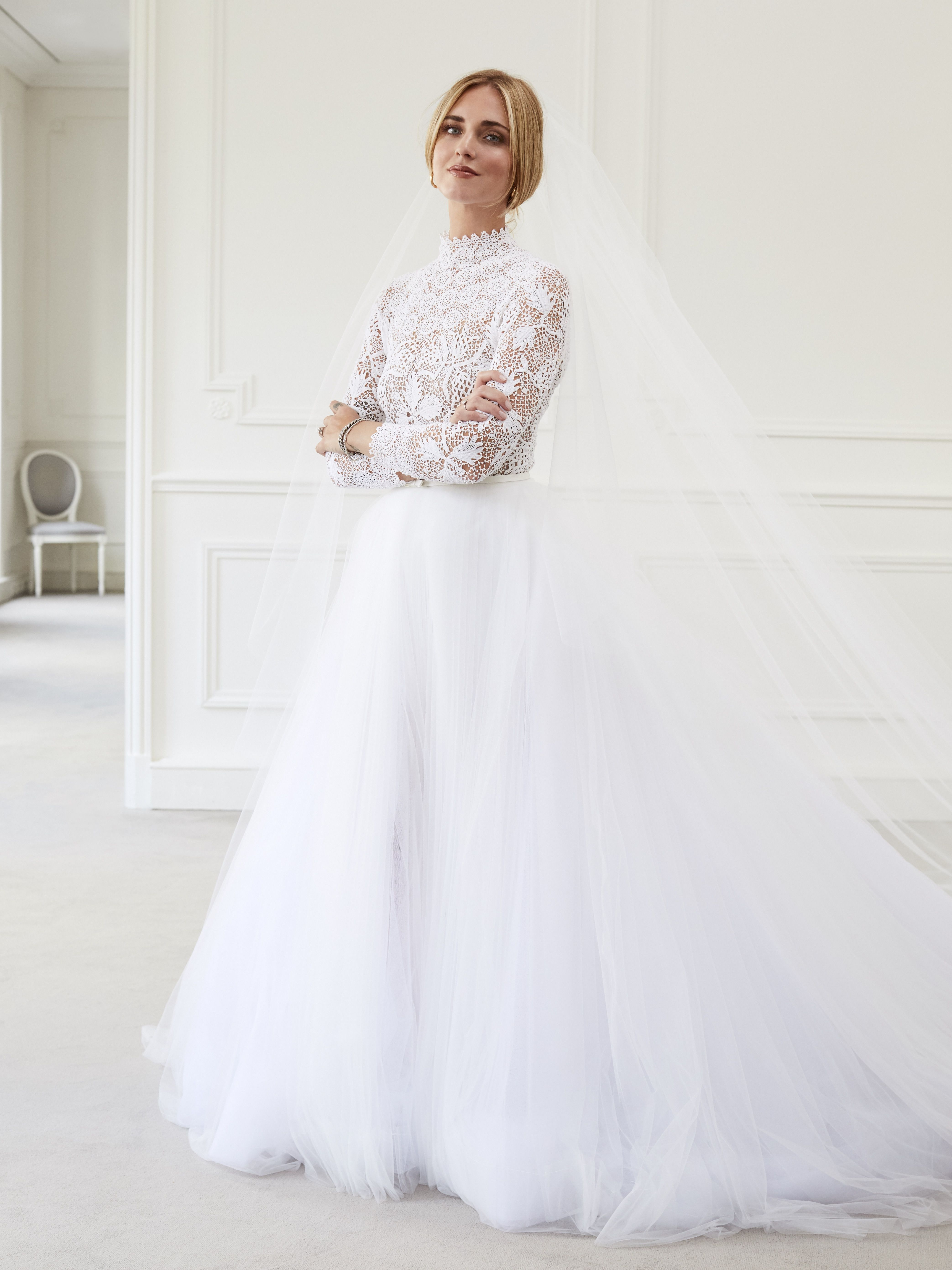 Video Chiara Ferragni Sees Her Dior Wedding Dress For The