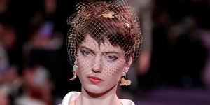 Dior couture feminist makeup hair beauty look