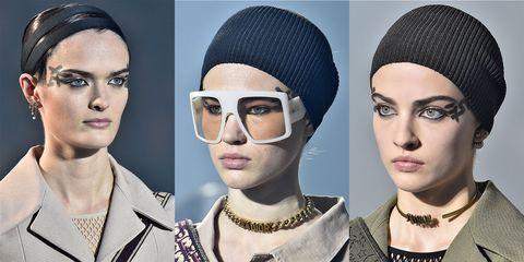 Eyewear, Face, Eyebrow, Knit cap, Head, Glasses, Beanie, Beauty, Fashion, Sunglasses,