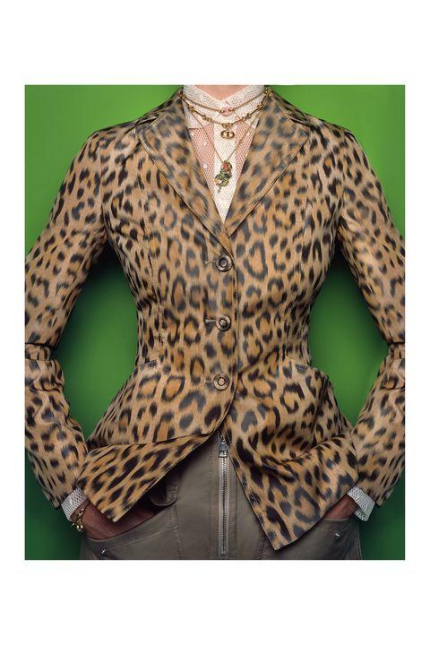 Brown, Green, Sleeve, Textile, Collar, Pattern, Fashion, Neck, Blazer, Beige,