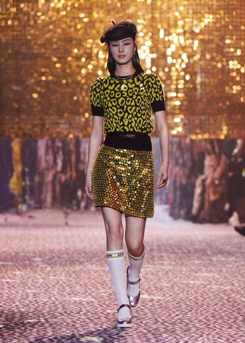 tendenza oro dior moda autunno 2021
