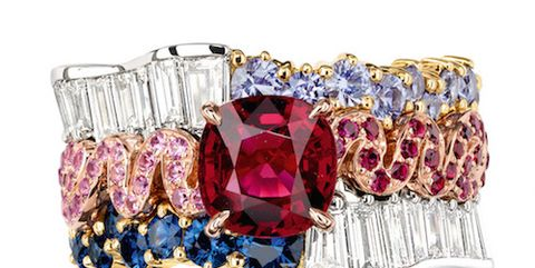 Magenta, Natural material, Gemstone, Ruby, Still life photography, Silver, Body jewelry, Crystal, Home accessories, Mason jar,