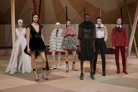 Fashion, Fashion design, Event, Fashion model, Dress, Haute couture, Performance, Fashion show,