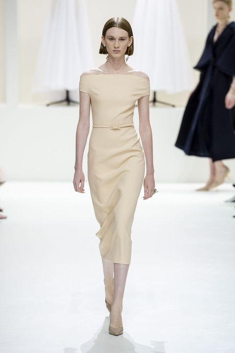 Fashion show, Fashion model, Fashion, Runway, Shoulder, Clothing, Haute couture, Dress, Joint, Public event,