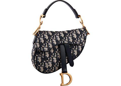 5fe2b4394ddb Courtesy of Dior. Dior Mini Saddle Bag in Blue Oblique Jacquard Canvas ...