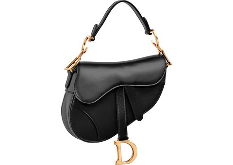 Courtesy of Dior. Dior Mini Saddle Bag in Black ... fa678b9b41607