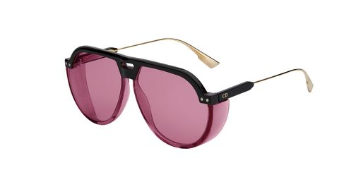 Eyewear, Sunglasses, Glasses, Personal protective equipment, aviator sunglass, Transparent material, Pink, Violet, Goggles, Vision care,