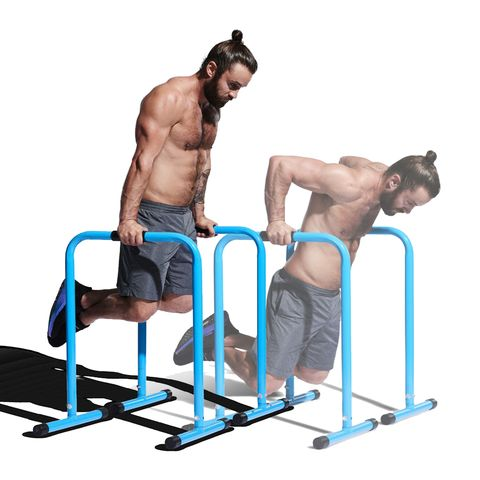 Arm, Parallel bars, Muscle, Standing, Leg, Chest, Shoulder, Sitting, Bench, Exercise equipment,