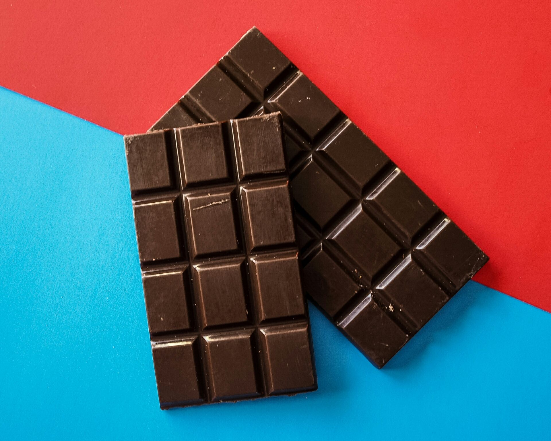 Directly Above Shot Of Chocolate Bars On Table