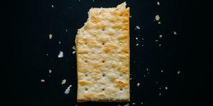 Directly Above Shot Of Cracker On Black Background