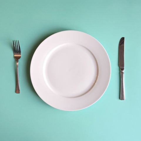 Directly Above Shot Of Empty Plate On Table