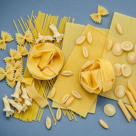 Directly Above Shot Of Uncooked Pasta On Table