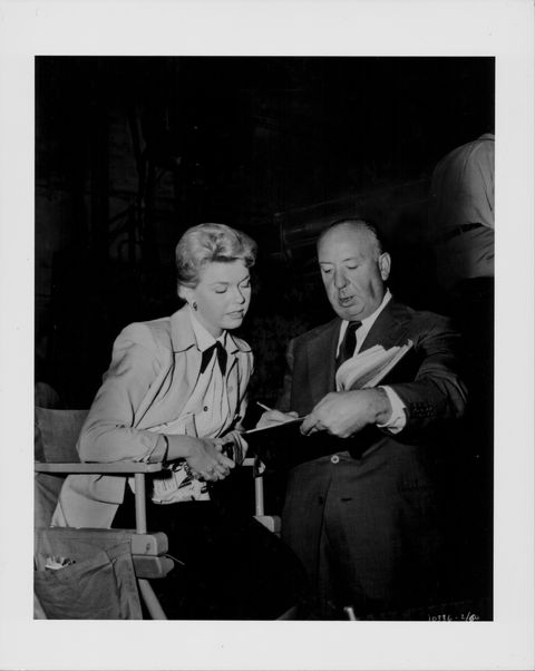 Alfred Hitchcock And Doris Day
