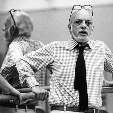 """Director Hal Prince during rehearsal for """"Don Giovanni."""""""