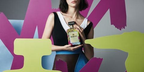 A bottle from the Disaronno wears Trussardi collaboration.