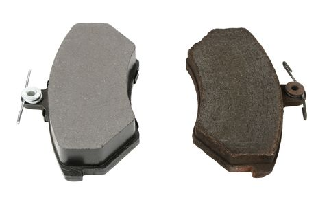 Disc Brake Pads Old And New