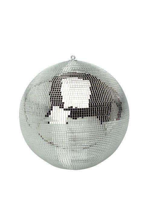 8-Inch Party Disco Mirror Ball - Shiny Silver