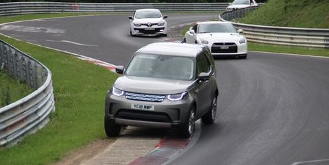 6b8a78cd15 Land Rover Discovery Driver Goes Nuts on the  Ring - SUV Driving on ...