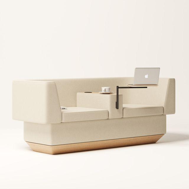 un sofá diseñado por joão teixeira para el teletrabajo