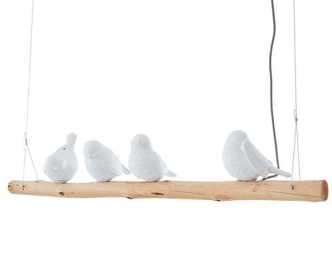 lámpara colgante de pájaros iluminados