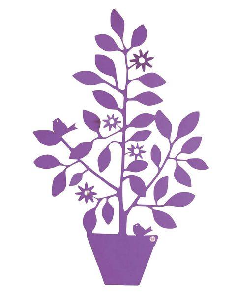 soporte para planta color violeta
