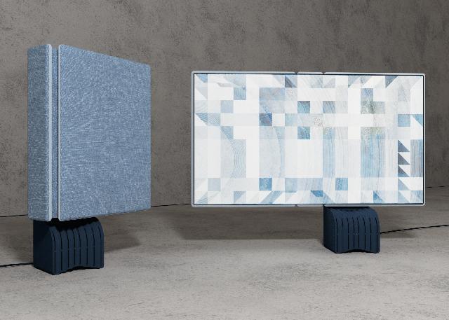 diseño de televisión signal que se despliega como un libro diseñado por jeanmichel rochette para un concurso de lg display y dezeen