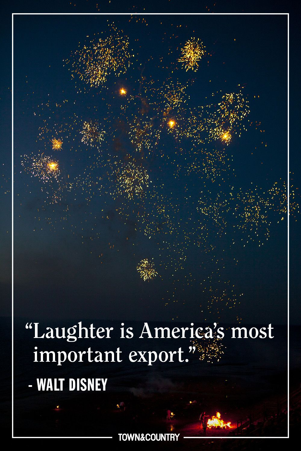 """""""Laughter is America's most important export."""" — Walt Disney"""