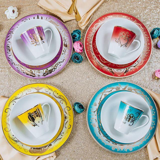 disney villains 16 piece dinnerware set