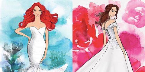 Real Life Disney Princess Drawings