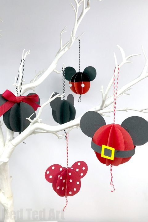 Minnie Mouse Christmas Tree Decorations.25 Diy Disney Christmas Decorations Best Disney Christmas