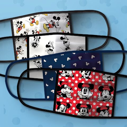 disney inspired mickey and minnie mouse cloth face masks