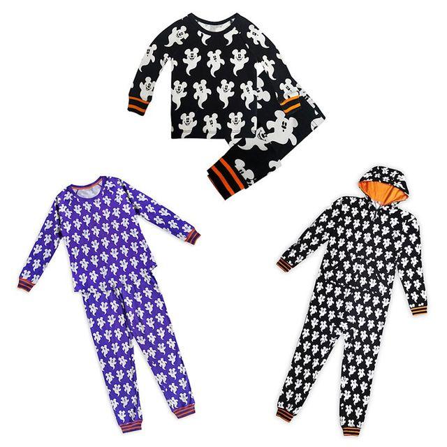 disney family halloween pajamas with mickey ghosts