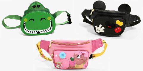 Bag, Cartoon, Pink, Coin purse, Messenger bag, Handbag, Fashion accessory, Font, Water bottle, Drinkware,