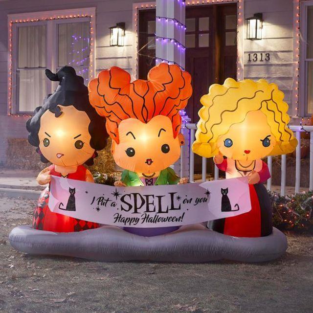 disney hocus pocus sanderson sisters scene halloween inflatable