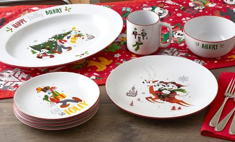 disney fans will love this mickey holiday dinnerware collection