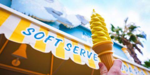 Lemon Soft Serve at Disneyland