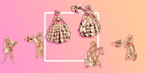 9a8d93d91ca10 Disney is selling a range of rose gold princess earrings and they're ...