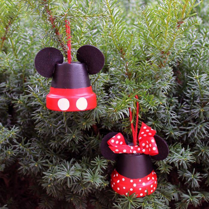 Christmas Tree Disney Decorations Part - 20: Disney Ornaments Flower Pots