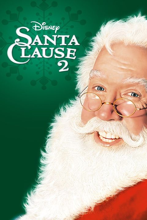 a movie poster of a man in a santa costume with the words santa clause two on a green background