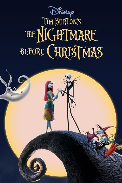 a movie poster showing two animated skeletons with a moon in the background
