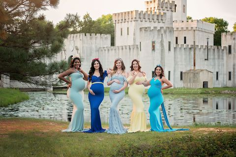 5 Women Pose As Disney Princesses For Their Maternity Shoots